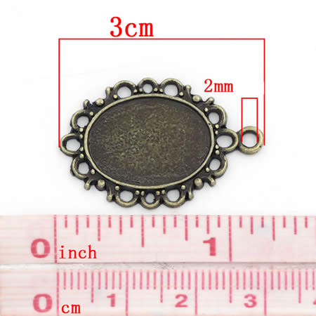 Cabochon Hanger Brons 13 x 18 mm