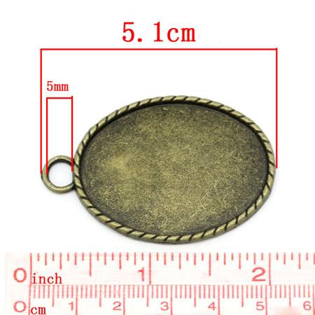 Cabochonhouder 30 x 40 mm
