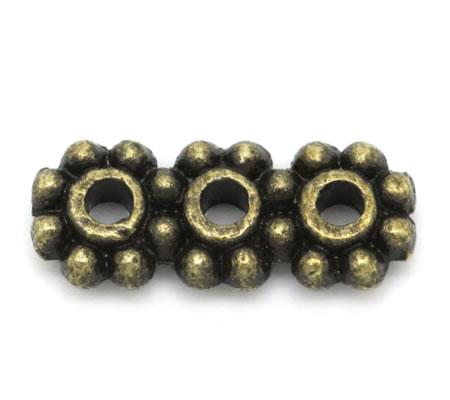 4x Verdelertje Brons 3-gaats