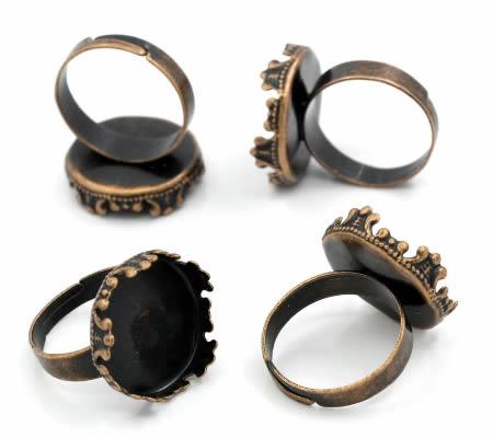 Cabochon Ring Rood Koper