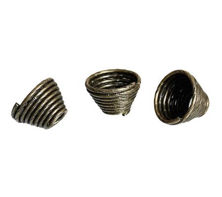 2x Kapjes Brons 14 x 10 mm