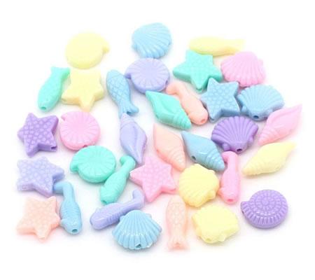 100 stuks pastel strand kraaltjes mix