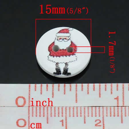 Houten Knoop Kerst