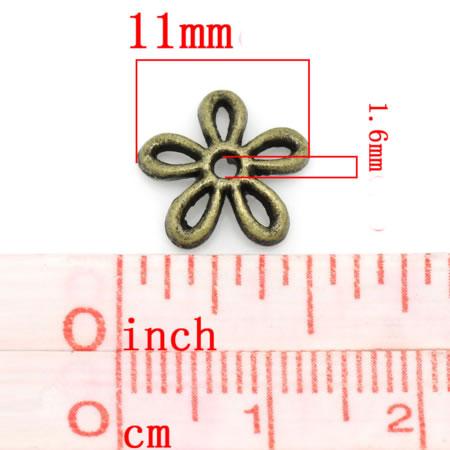 4x Kapjes Brons 11 mm
