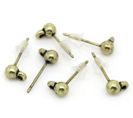 5 sets Plastic oorbel knopje met oogje
