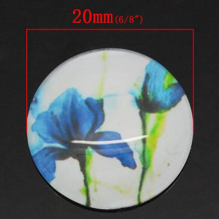 Glazen cabochon Fleur de Lis 20 mm