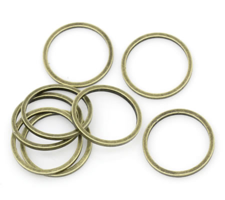 10x Gesloten Ring Brons 12 mm