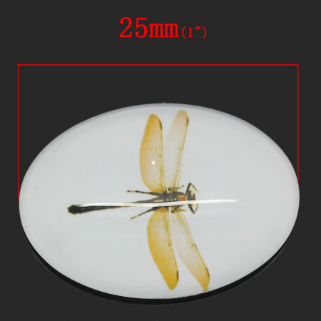 Glazen Cabochon Libelle