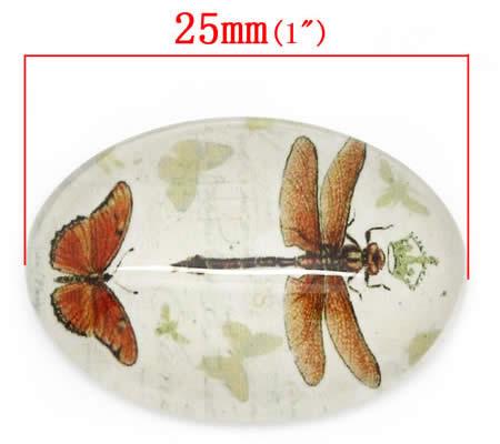 Glazen Cabochon 24 x 18 mm