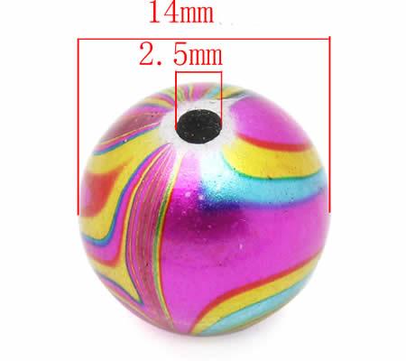 5 stuks acryl kraal 14 mm