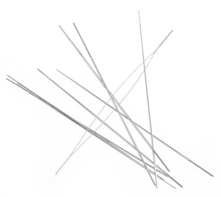 1x Groot Oog kralenrijgnaald 57 mm