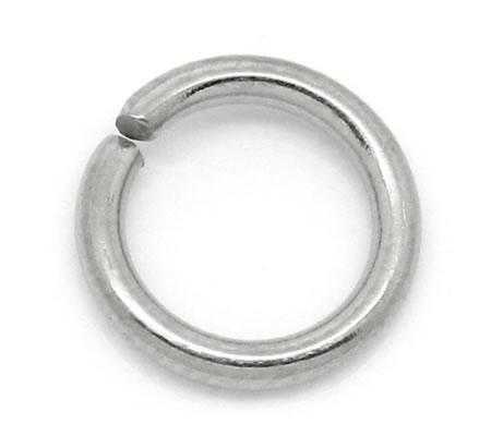 50x roestvrijstalen (304) open ring 6 mm