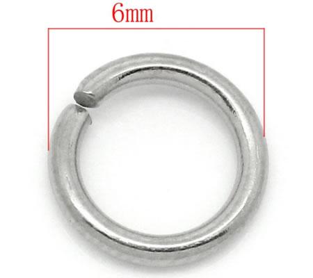 Roestvrijstalen Jumpringen 6 mm