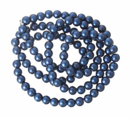 Snoertje Glasparel 8 mm Donker Blauw