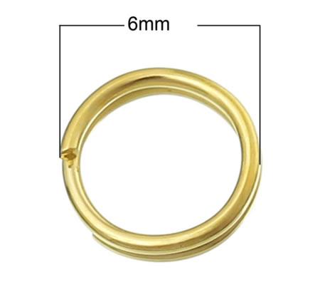 100x goudkleurige splitringetjes