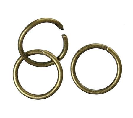 50 stuks Open Ring brons 8 mm