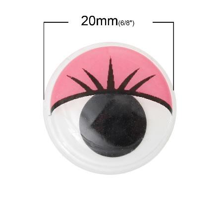 1x Beweegbare poppen ogen 20 mm