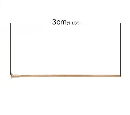 50x nietstiften RoseGold 30 mm