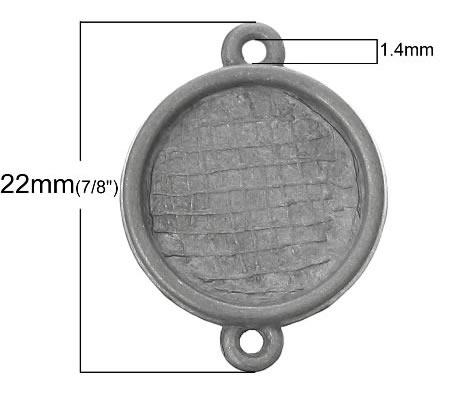 1x Connector onbehandeld (kleur zink)