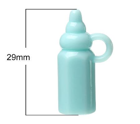 1x Bedel Baby Flesje Blauw