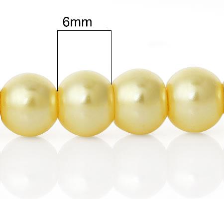 Snoertje Glasparel 6 mm Geel