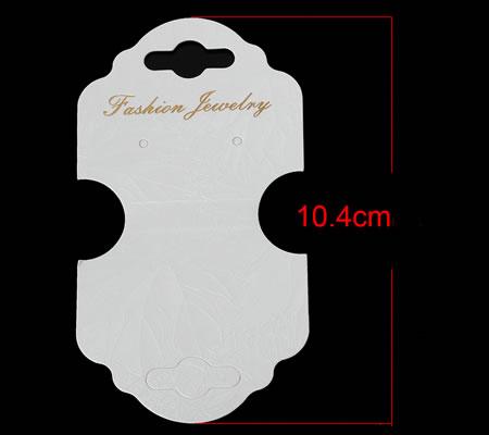 10x oorbellen / ketting kaartjes wit/goud