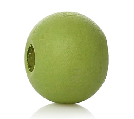 50 stuks houten kraaltjes Lime Groen