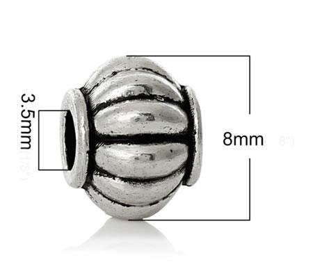 5x Spacerkraaltje Lampion Donker Zilver
