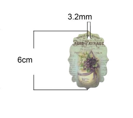 5 stuks oorbellen kaartjes vrouw/bloem