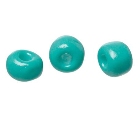 20 gram Rocailles 4 mm zijdeglans turquoise