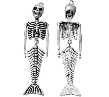 1x Bedel Skeletje Donker Zilver