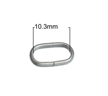 10x roestvrijstalen (304) open ring 12 mm