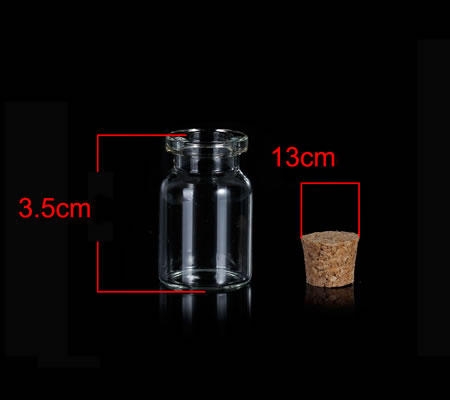 Glazen Flesje 35 x 22 mm