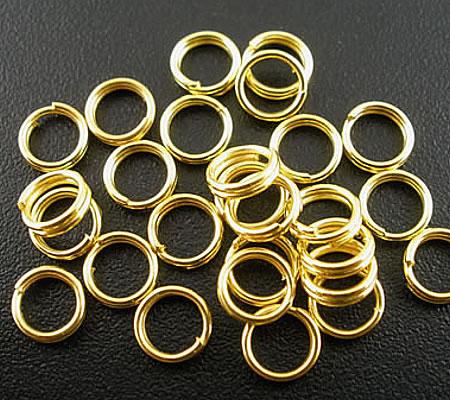 250x goudkleurige splitringetjes