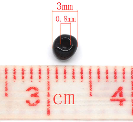 20 gram Rocailles 3mm Zwart