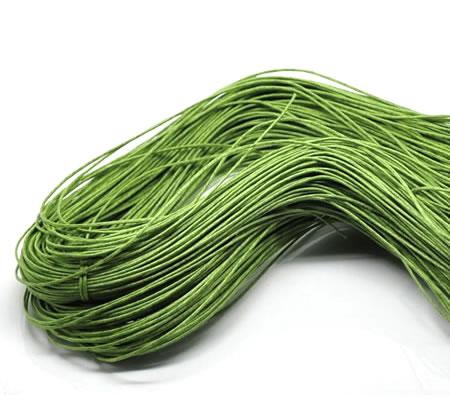 80 meter katoenen waxkoord Groen
