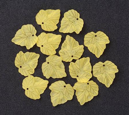 25x Frosted Blaadjes Geel