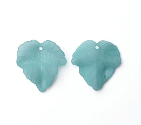 25x Frosted Blaadjes Turquoise