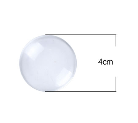 1x Glazen cabochon 40 mm Rond