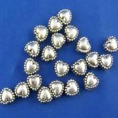 10x Metalen hartjes 5 mm
