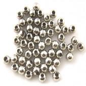 500 stuks metalen kraal donker zilver