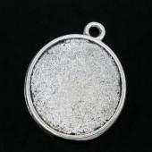 Donker zilveren bedelhanger 2-zijdig