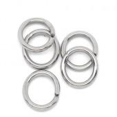 20x roestvrijstalen (316) open ring 7 mm