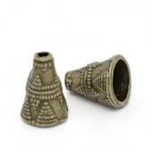 2x Kralen Kapjes Brons 6 mm