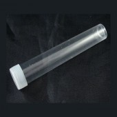 1x plastic buisje / mat transparante dop