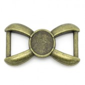 1x Cabochon Connector Brons voor armband