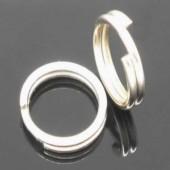 50x Splitring donker zilver 6 mm