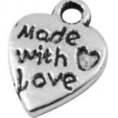 "20 stuks ""Made with Love"" bedel"