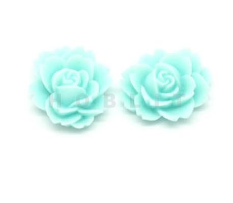 Kunsthars Roosje Turquoise