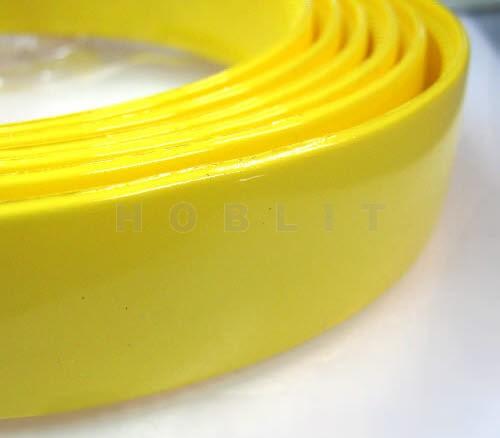 1x Diadeem 25 mm Geel Haarband met kamrand Breedte 25mm